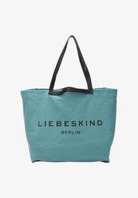 Liebeskind Berlin - AURORA SHOPPER L SHOPPER AUS CANVAS - Tote bag - liquid blue - 1