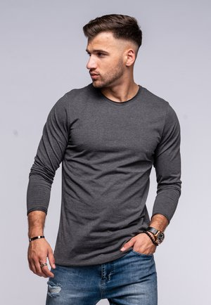 INFINITY  - Long sleeved top - dark grey melange