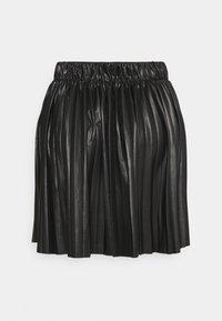 ONLANINA COATED SKIRT - Áčková sukně - black