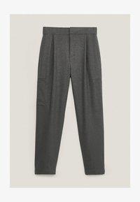 Massimo Dutti - MIT DETAIL AM SAUM - Trousers - Grey - 0