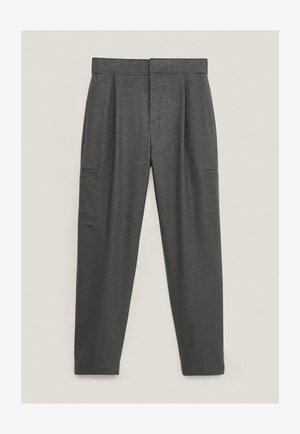 MIT DETAIL AM SAUM - Trousers - Grey