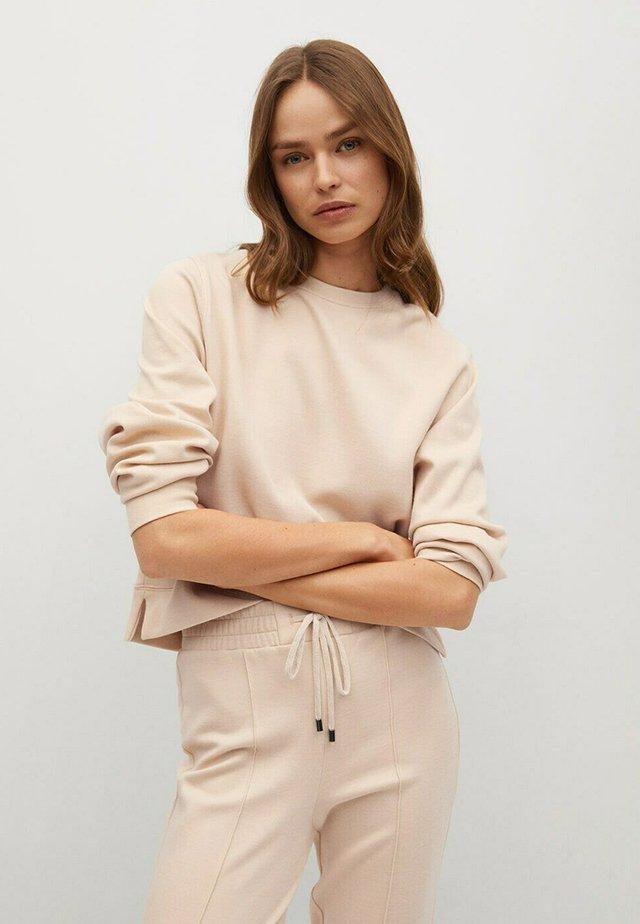 BASIC SWEATSHIRT - Sweatshirt - sandfarben