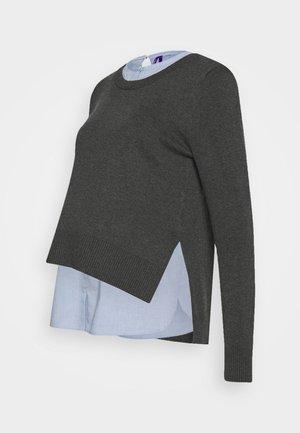 FELISA - Svetr - grey/light-blue denim