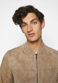 Theory - FLETCHER - Leather jacket - dark bark/asphalt - 5