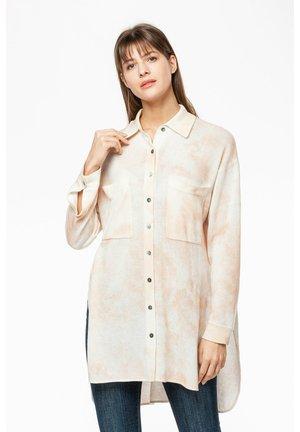 Button-down blouse - braun/weiß