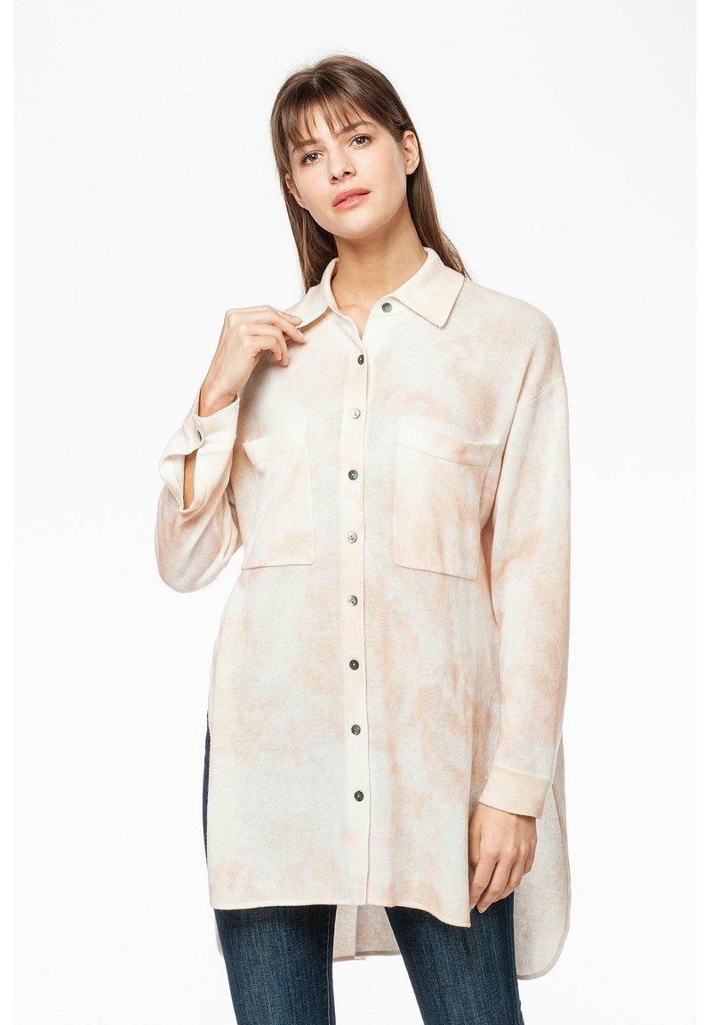 Rosa & Me - Button-down blouse - braun/weiß