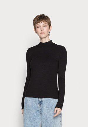 ELLE HIGH NECK - Long sleeved top - black