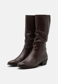Steven New York - SOLANGE - Vysoká obuv - dark brown - 2