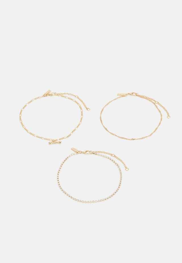 CHAIN BAR ANKLET 3 PACK - Andet - gold-coloured