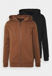 Burton Menswear London - HOOD 2 PACK - Sweatjacke - black - 5