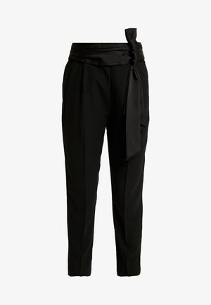 WILLOW BOW FRONT PANTS - Pantalon classique - black