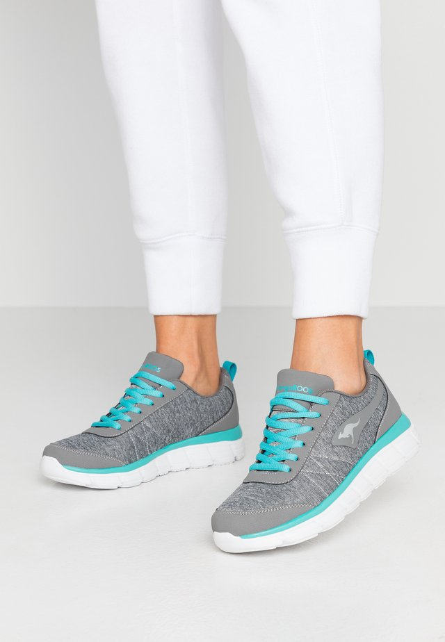 Trainers - steel grey/turquoise