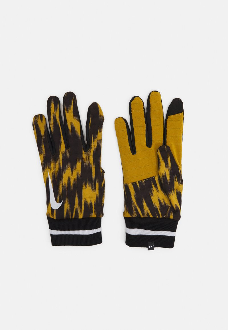 Nike Performance - MENSWILDRUN PRINTED SPHERE GLOVES UNISEX - Gloves - ochre/black/silver