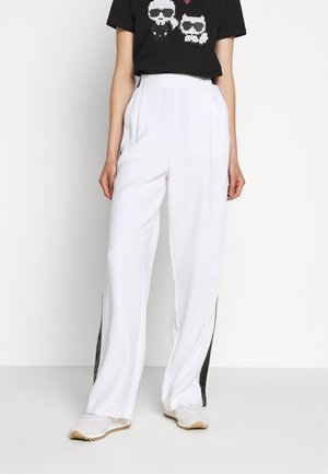 CADY PANTS LOGO TAPE - Trousers - white