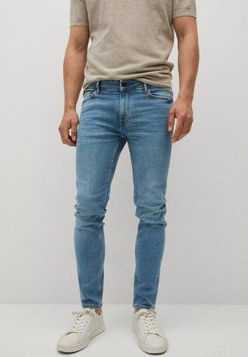 Skinny džíny - mintgrønn