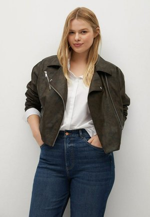 VINTAGE - Faux leather jacket - bruin