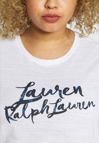 Lauren Ralph Lauren Woman - HAILLY SLEEVE - Print T-shirt - white - 4
