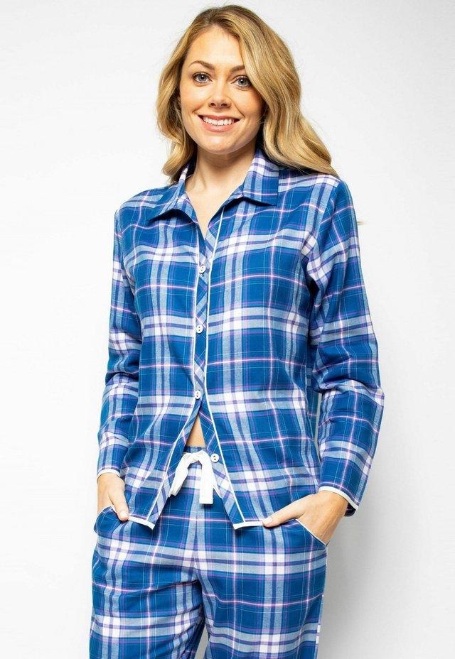 Pyjamashirt - blue chks