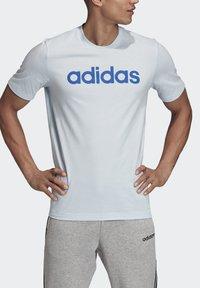 adidas Performance - ESSENTIALS LINEAR LOGO T-SHIRT - Print T-shirt - blue - 4