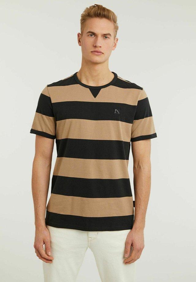 SLATE - T-shirt con stampa - beige