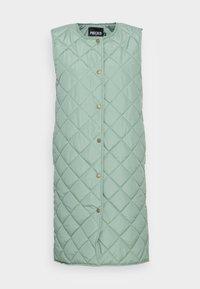 PCNIKITA PADDED VEST - Waistcoat - aqua gray