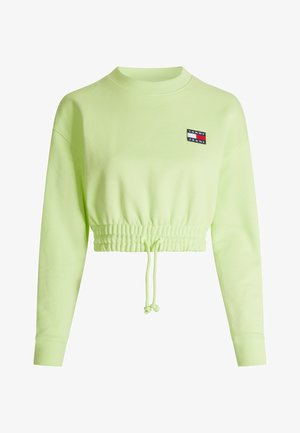SUPER CROPPED BADGE CREW - Jumper - faded lime
