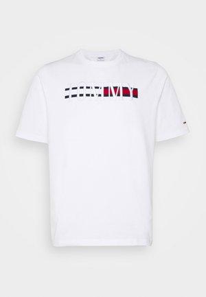 PLUS TIMELESS TEE - T-shirt med print - white
