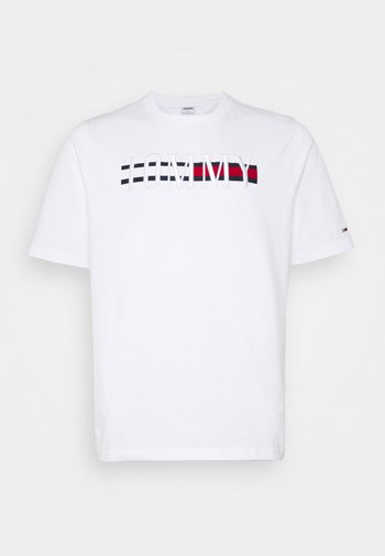 PLUS TIMELESS TEE - Print T-shirt - white
