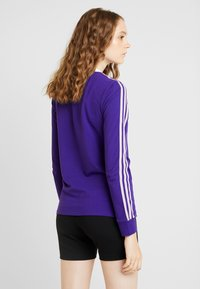 adidas Originals - ADICOLOR 3 STRIPES LONGSLEEVE TEE - Bluzka z długim rękawem - collegiate purple - 2