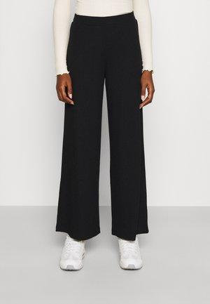 VIRIBBI PANTS - Spodnie materiałowe - black