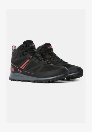 W LITEWAVE MID FUTURELIGHT - Hiking shoes - tnf black/dusty cedar