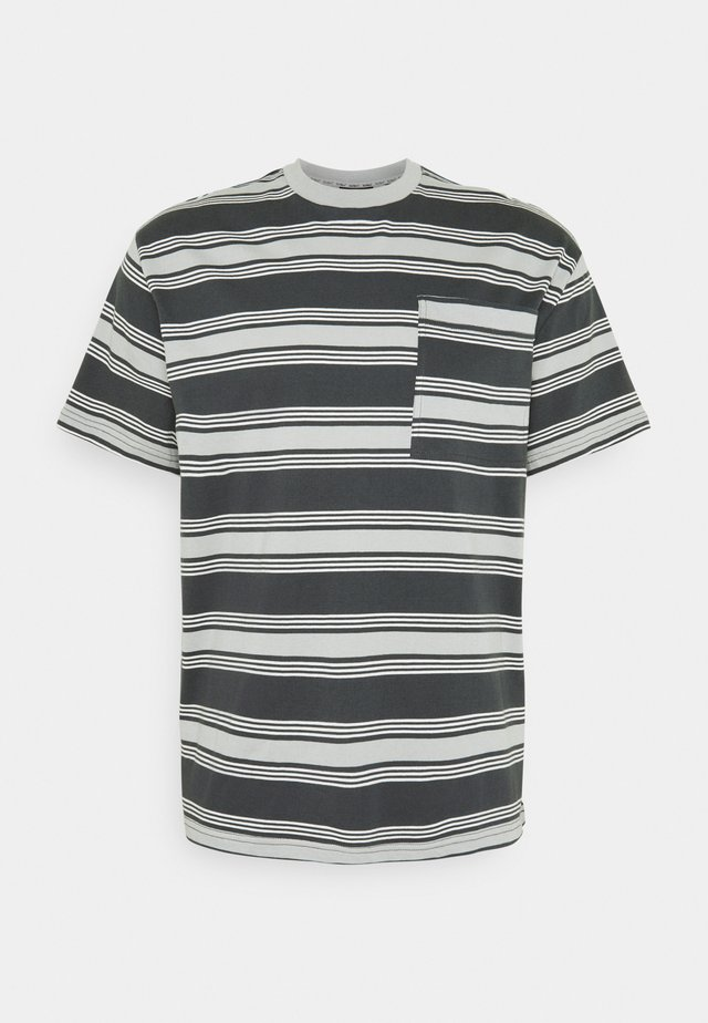 STRIPE TEE - T-shirt imprimé - grey