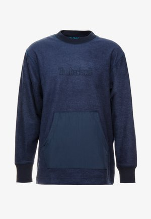 MIXED MEDIA IRREGULAR BLOCK - Sweatshirt - dark sapphire