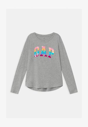 GIRL LOGO - Camiseta de manga larga - light heather grey