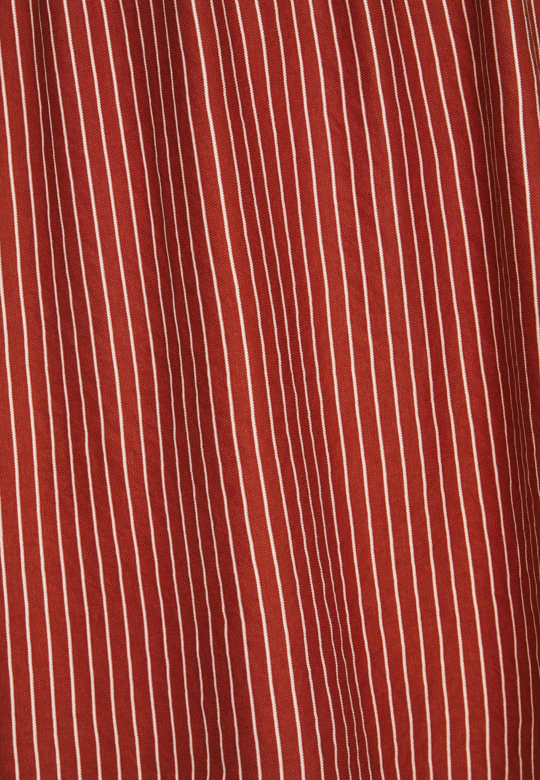 TOM TAILOR DRESS STRIPE Freizeitkleid brown/white/tan