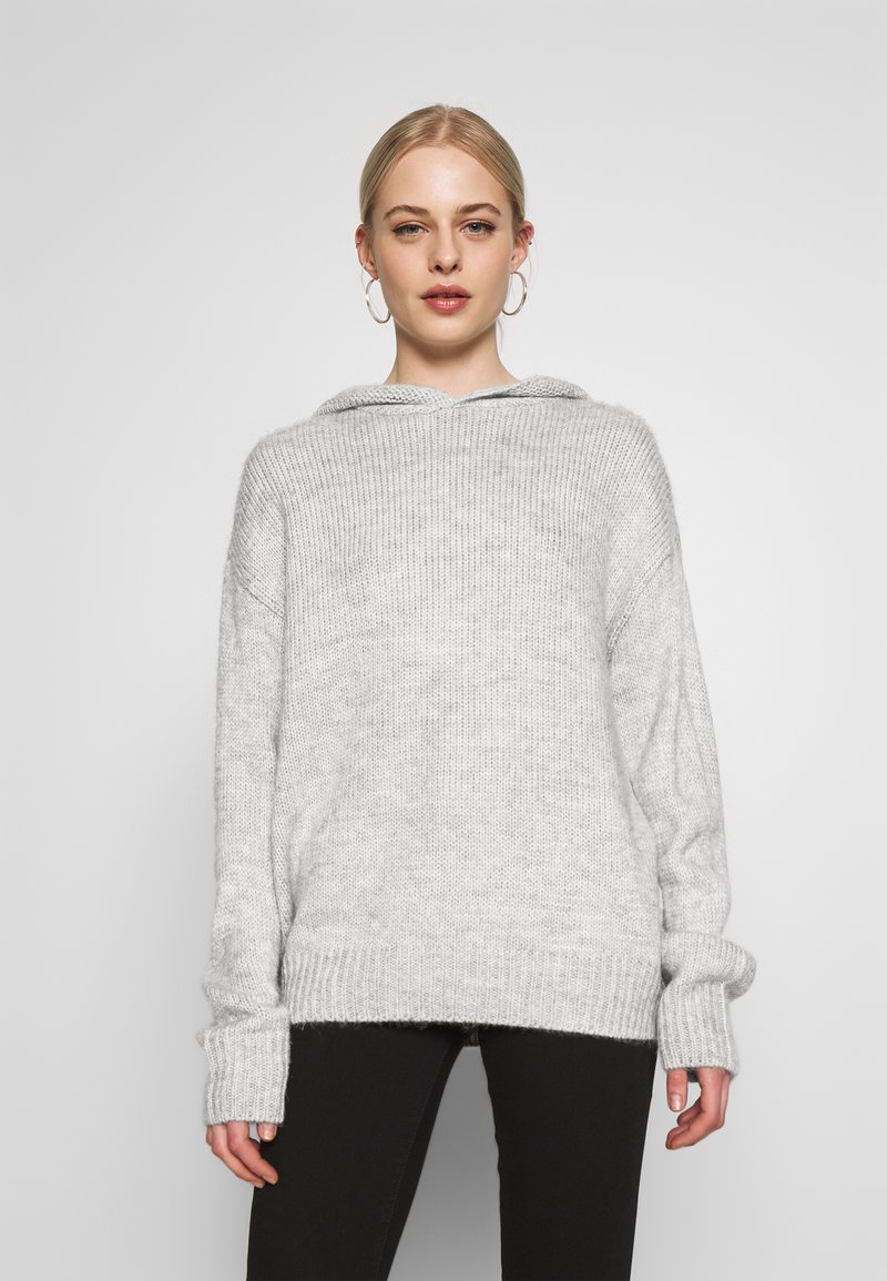 Nly by Nelly - HODDIE - Jersey de punto - grey