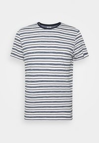 MULTI STRIPED - Print T-shirt - offwhite/navy