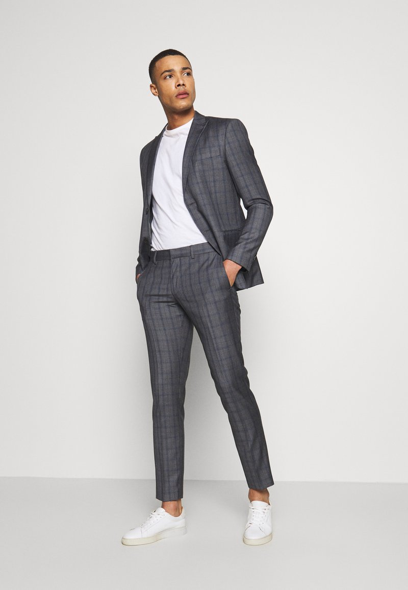 Isaac Dewhirst - CHECK SUIT - Kostym - grey