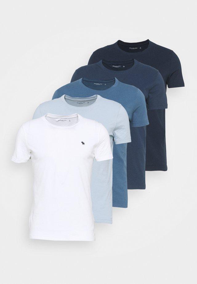 ICON CREW 5 PACK  - T-shirt basique - blue