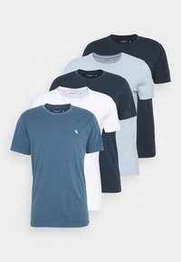 Abercrombie & Fitch - ICON CREW 5 PACK  - T-shirt basic - blue - 8