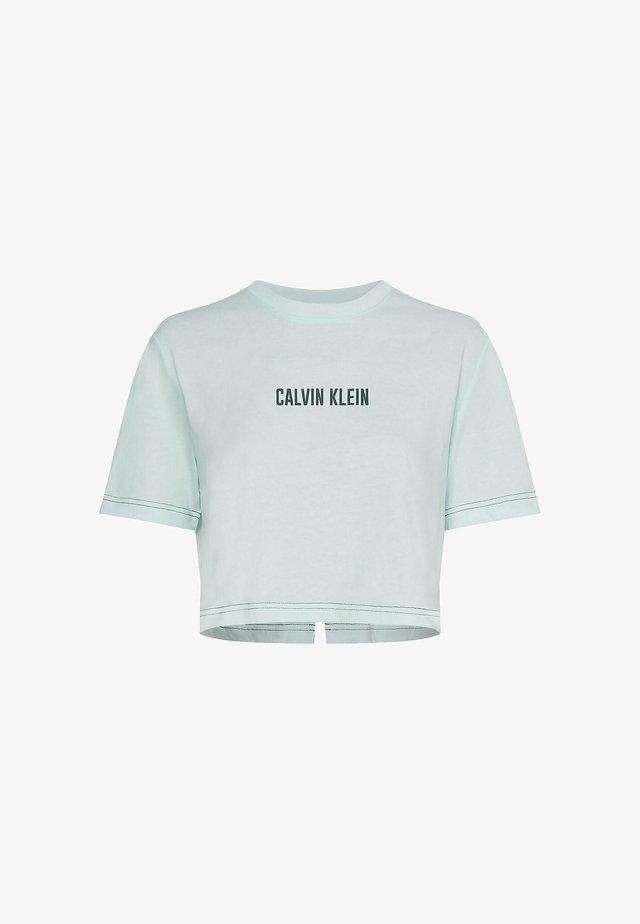 OPEN BACK CROPPED - T-shirt print - misty aqua