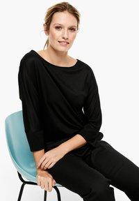 s.Oliver BLACK LABEL - Long sleeved top - black - 0