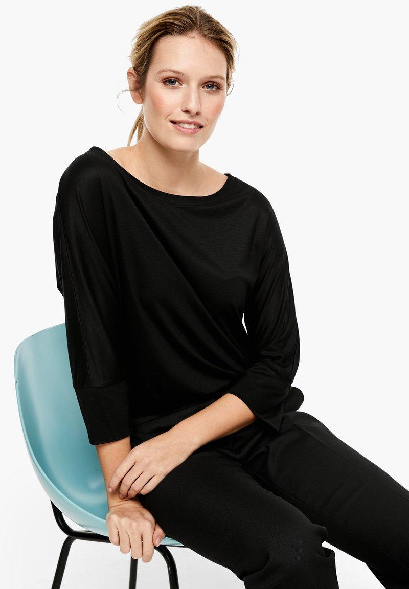 s.Oliver BLACK LABEL - Long sleeved top - black