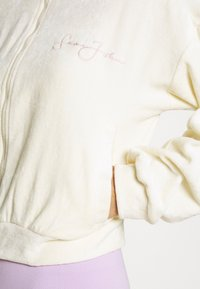 Missguided - SEAN JOHN X MG TRACKSUIT TOP - Fleecová bunda - ecru - 6