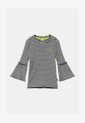 JEZZIME STRIPE BELL SLEEVE - Long sleeved top - deep black