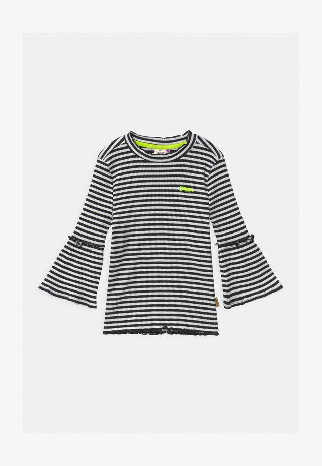 JEZZIME STRIPE BELL SLEEVE - T-shirt à manches longues - deep black