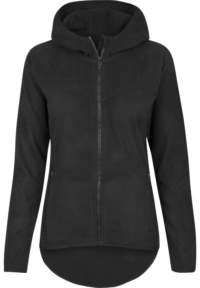 fleece jacke schwarz damen