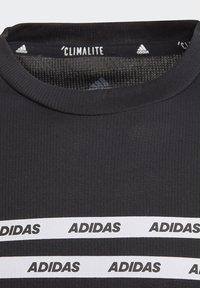 adidas Performance - ALL CAPS T-SHIRT - T-shirts med print - black - 3