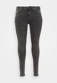 SLFINA SMOKE  - Skinny džíny - black denim