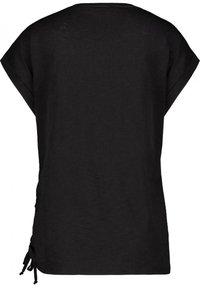 Monari - MIT RUNDHALS UND PRINT - Print T-shirt - black - 1